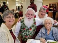 Santa Jim and Ms Claus at retirment community