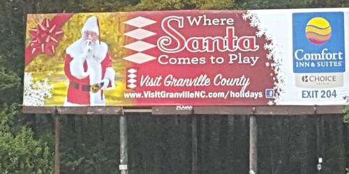 2017 Granville County Visitors Bureau billboard