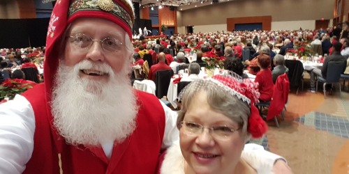 Santa and Ms. Claus at 2017 Golden Age Brunch